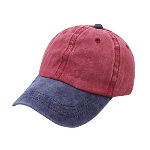 Saingace Vintage Draussen Sport Kappe Schirmmützen Geeignet Mützen für Herren Baseball Cap Zubehör - Vans Kleinkinder Rote