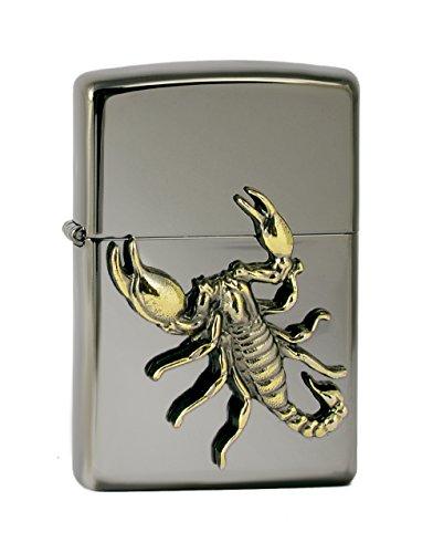 Zippo, Accendino da collezione in edizione limitata, motivo: Scorpione,colore: Argento (Edelstahloptik)