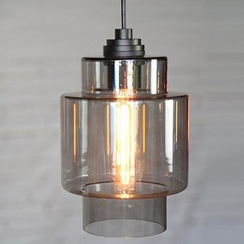 TYDXSD Nordische minimalistischen modernen Shop Tisch Lampe Schatten Glasmalerei kleine Kleidung Shop Hot Teekanne Speichern der Speisesaal Kronleuchter , d1038-3 cigarette ash