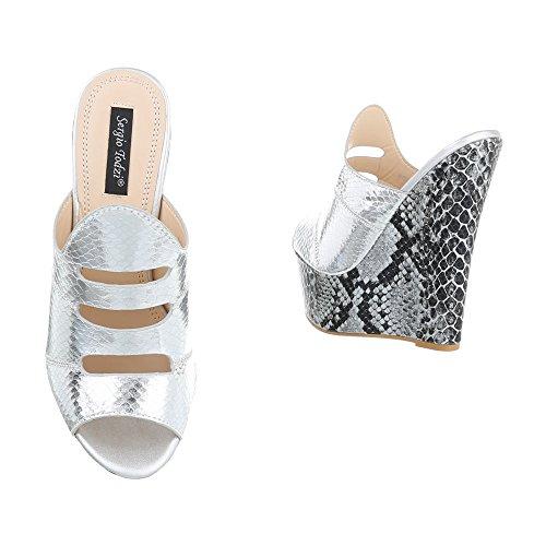 Ital-design - Zapatos Plateados Mujer