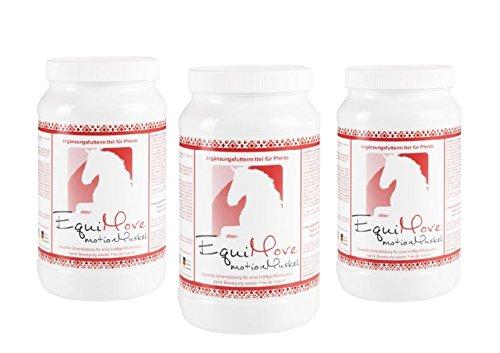3 Dosen EquiMove motion Muskel (3 x 1,5 kg). Effektiver Muskelaufbau für dein Pferd. Für intensive Trainings- und Muskelaufbauphasen sowie begleitend bei Problemen der Muskulatur.