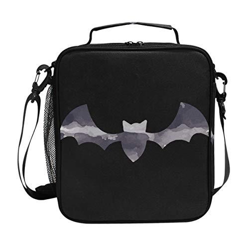 FAJRO Kühltasche für Mittagessen, Halloween, Fledermaus, isoliert, Grau