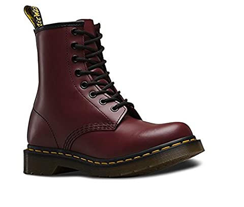 Dr. Marten's Women's 1460 8-Eye Cherry Red Rouge Smooth Leather Boots - 8 F (M) UK / 10 US Women / 9 US Men