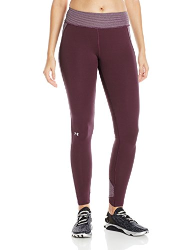Heatgear Compression Legging Fit (Under Armour Damen Running Leggings CG Stripe Inset Tight, Oxblood, L, 1265175)