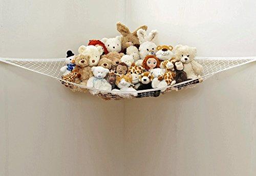 Forepin® Kinderzimmer Jumbo Spielzeug Hängematte Netz Ordnung Spielzeug Aufbewahrung Plüschtier Toy Organizer für Kinder (150*100*100cm)(Puppen sind nicht enthalten)