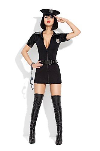 AmazingGirl Sexy 5 teil. Kostüm Polizistin Damenkostüm Polizei Police Karneval (Kostüme Frau Polizei)