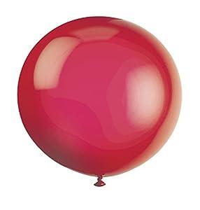 Unique Party- Globos Gigantes de Látex para Fiestas, Paquete de 6 (56729)