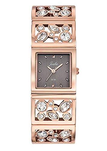 Joalia - Montre Femme - H630M561 - Bracelet doré Rose - Boitier carré - Cadran Gris