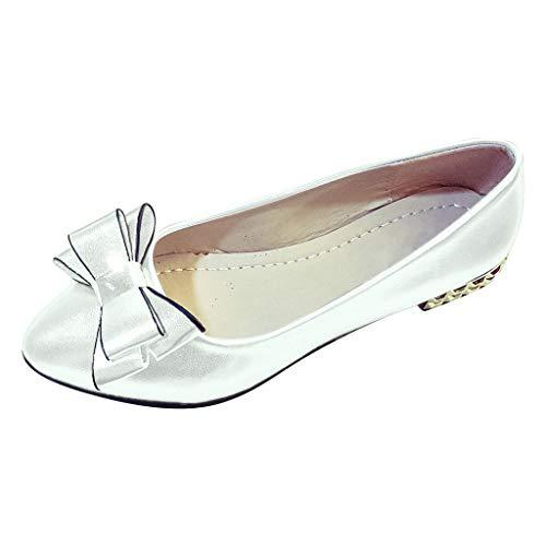 MuSheng Damen Elegante Blockabsatz mit Schleife Damenschuhe wies weichen Boden flach Kleid Schuh Casual Bow Flat Single Schuhe - Wildleder Slouchy Boot