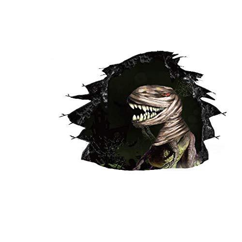 Dekoration 3D Gebrochen Wandaufkleber Dinosaur Mummy Wohnzimmer Schlafzimmer Hintergrund Wallpaper Poster Langlebig und Praktisch ()