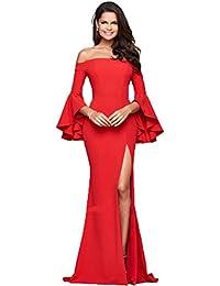 YiJee Mujer Sin Respaldo Largo Vestidos de Coctel Elegante Vestido de Noche