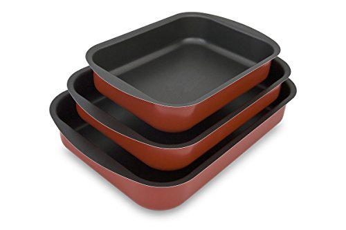 Menax - Roaster Trays - Aluminum with Double Nonstick Coating - Set of 3 - Made in Italy