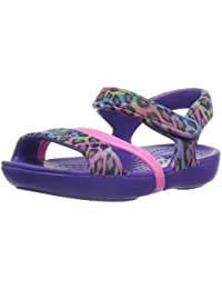 crocs Lina Girls Sandal in Purple