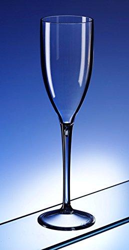 Set von 6Champagner Flöten In unzerbrechlichem Polycarbonat Kunststoff. Ideal für allgemeinen Gebrauch oder anrösten auf Hochzeiten und chistenings. (Champagner-set Von 6)