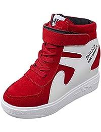 Zapatos con correa grueso inferior para mujer,Sonnena Aumento de la parte inferior Zapatos individuales casuales Plano, impermeable Mosaico de color Zapatos de mujer