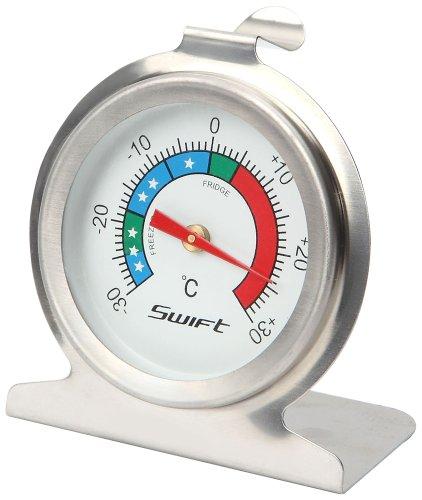 Dexam 17840317 - Termómetro para frigorífico y congelador (acero inoxidable), color plateado