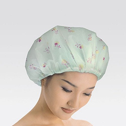 Good Quality Reusable Elastic Shower Cap for Home Use, Salons, Spas & Beauty Parlors - Free-Size Cap for Adults & Children