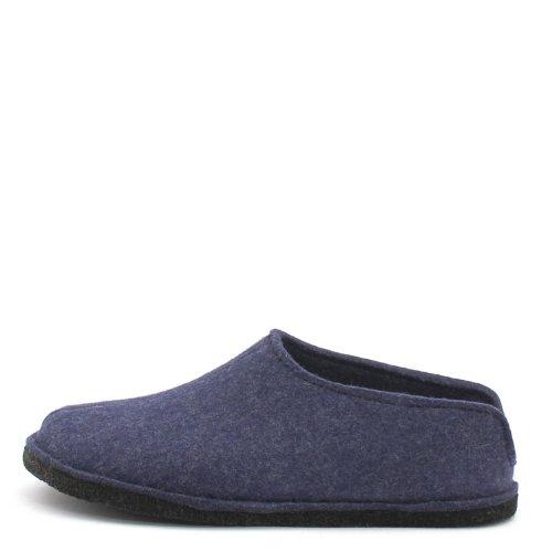 Haflinger Unisex-Erwachsene Flair Smily Pantoffeln, Blau (Jeans 72), 41 EU