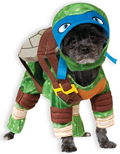 Ninjas Kostüm Turtles - Rubie 's Offizielles Haustier-Hunde-Kostüm, Leonardo, Teenage Mutant Ninja Turtles - X-Large