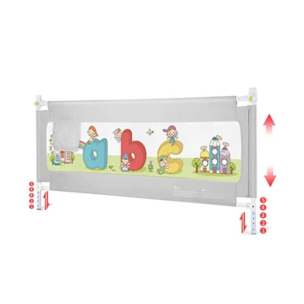 Playpens Crib Guardrail Baby Shatter-resistant Fence Large Bed 1.5-2.0 Meters Children Against Bedside Baffle (Size : 1.5m) Playpens ★ high quality non-toxic materials,Size:150cm/200cm ★ Vertical lift structure: no space is occupied, and it is more convenient to enter and exit. Push the fence down at the push of a button ★ height adjustment: can be adjusted according to the thickness of the mattress, so that the bed is close to the mattress. Avoid gaps between the mattress and the guardrail to prevent your child from falling 1