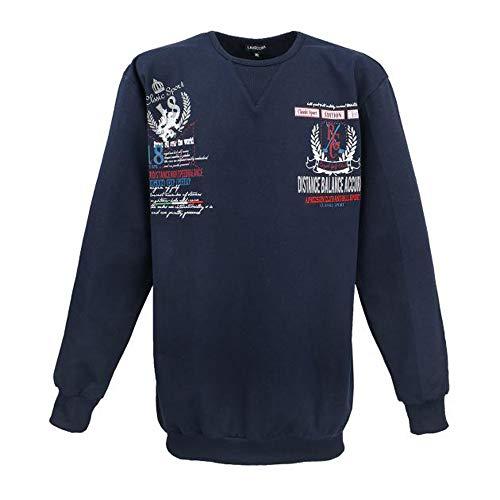 Lavecchia Übergrößen Herren Sweatshirt mit Druck 3XL bis 8XL Navy Größe: 6XL