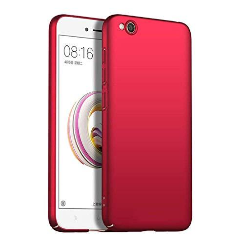 MISKQ Funda para Xiaomi Redmi Go,[Ultra Delgado] [Anti-caída] Ultra-Delgado Concha Dura Resistencia al Rayado Superficial Funda para telefono movil(Rojo)