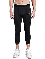 AMZSPORT Pantalon de Sport Homme 3/4 Legging de Compression Séchage Rapide Baselayer Pantalon ALL-SEASON ZK09
