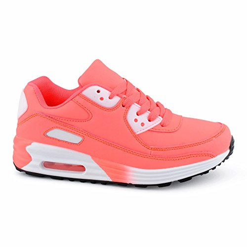 Herren Damen Sneaker Sportschuhe Schnür Lauf Freizeit Fitness Dämpfung Low Top Unisex Schuhe Berlin-Pink-W
