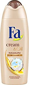 Fa Cream & Oil Duschcreme, Kakaobutter & Cocosöl, 6er Pack (6 x 250 ml)
