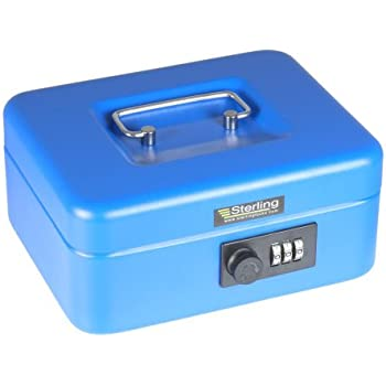 sterling cb02c geldkassette mit zahlenschloss blau baumarkt. Black Bedroom Furniture Sets. Home Design Ideas