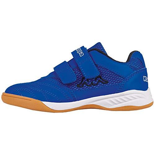 Kappa Unisex-Kinder Kickoff Multisport Indoor Schuhe, Blau (Blue/Black 6011), 30 EU