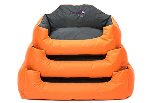 Dog Bed, Dog Cushion, Puppy Bed, Dog Pillow, Dog Sofa, Dog Baskets, Water resistant, Easy Clean, Purple-Pets 'Modern' 8
