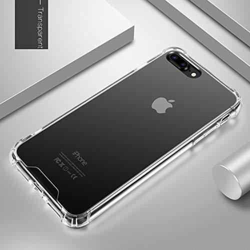 Daxey - Spiegel-Kasten für iPhone 6 6S 08.07/7 Plus / 6 Plus X Anti Shock Hart Acrylic + TPU Abdeckung zurück Rose Gold Coque [Phone X Transparent]