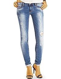 Bestyledberlin pantalon en jean femme, jean slim fit detruit j62f