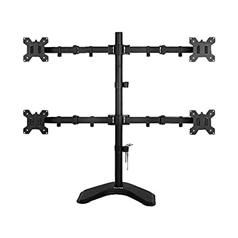 Viotek Articulating Quad 4-Monitor Stand With Adjustable Height -Monitor Arm Vesa Mount Fits Up To 4