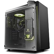 DeepCool Baronkase Liquid Caja ATX Micro con Sistema de Refrigeración Líquida RGB, Caja de Ordenador Torre ATX Micro con Tubo Visual RGB y Bomba RGB Controlable, Color Negro Garantía de 3 Años