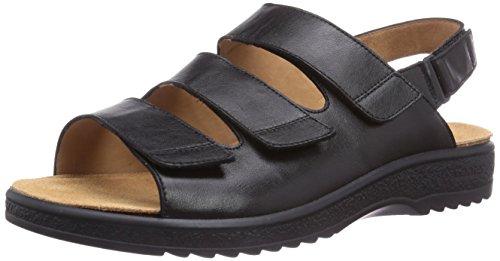 Ganter Holger, Weite H, sandales ouvertes homme noir (schwarz 0100)