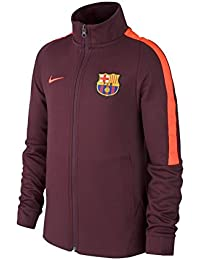 9102ad7d170cc 2017-2018 Barcelona Nike Authentic Franchise Jacket (Night Maroon) - Kids