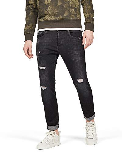 e4eb9d89a44 G-STAR RAW 3301 Slim, Jeans para Hombre, Gris (Medium Aged Grey