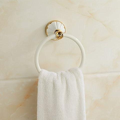 SDKIR-Galvanisierte, weiße im Europäischen Stil Garten Badezimmer Handtuchhalter ring Handtuch Bad Regale