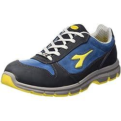 Diadora - Run Low S3, Zapatos de Trabajo Unisex Adulto, Azul (Blu Scuro/Blu Cielo), 44 EU