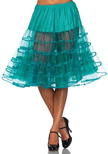 LEG AVENUE Damen Petticoat knielang Jade grün Einheitsgröße (Jade)