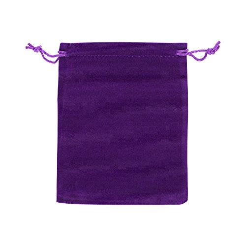 AURORIS - Samtbeutel ca. 15x12cm Farbe: violett - 1 Stück (Samtbeutel Großer)