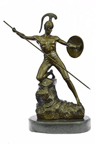 Handgemachte Bronze Skulptur Bronze Statue Jahrgang neoklassischen Greco / römische Gladiator nackter Mann von Jensen Figuren-Ukste-3380- Decor Sammler Geschenk (Gladiator Statue)