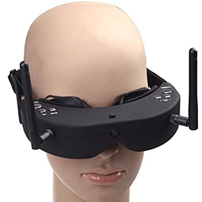 Kingzer SkyZone SKY-01 RC FPV AIO Goggles 5.8G 32CH Head Tracing Glass Receiver External Lens from Kingzer