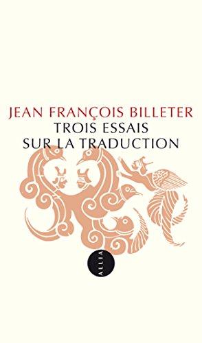 Livre Trois essais sur la traduction pdf ebook