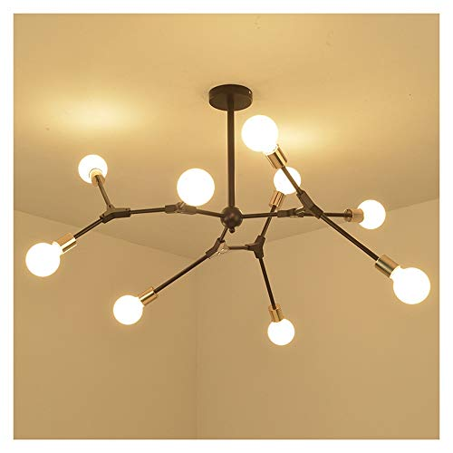 HARDY-YI Lámpara de Techo Moderna Personalidad Creativa Simple Araña de Hierro Forjado...