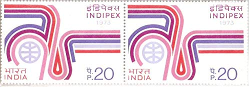 India 1973 Indipex Pair Stamps MNH