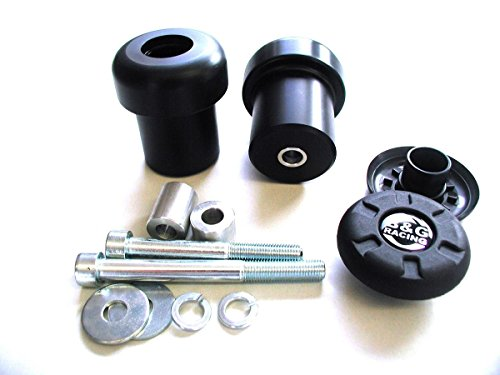B&G Racing Frame Slider Crash Pads Suzuki GSX`R 1000 07-08 Racing Black