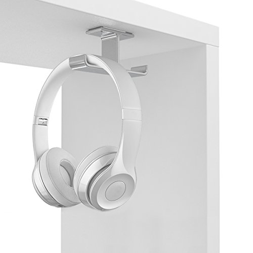 Kopfhörerständer aus Aluminium,Apphome Kopfhörerhalter Headset Halter Starke Viskosität Silber